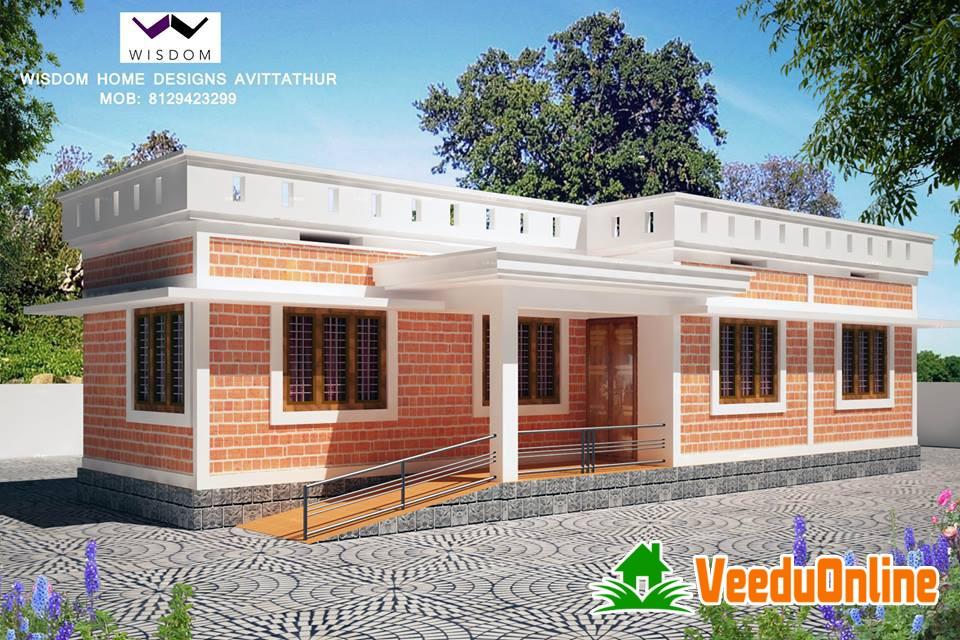N Single Home Elevation : Single floor kerala home design square feet