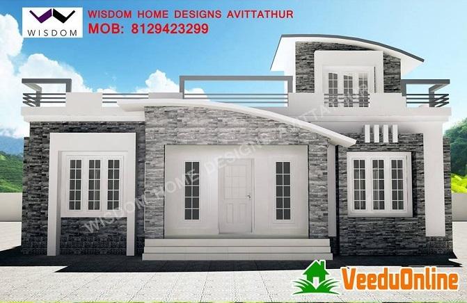 1350 Square Feet Single Floor Contemporary Home Design