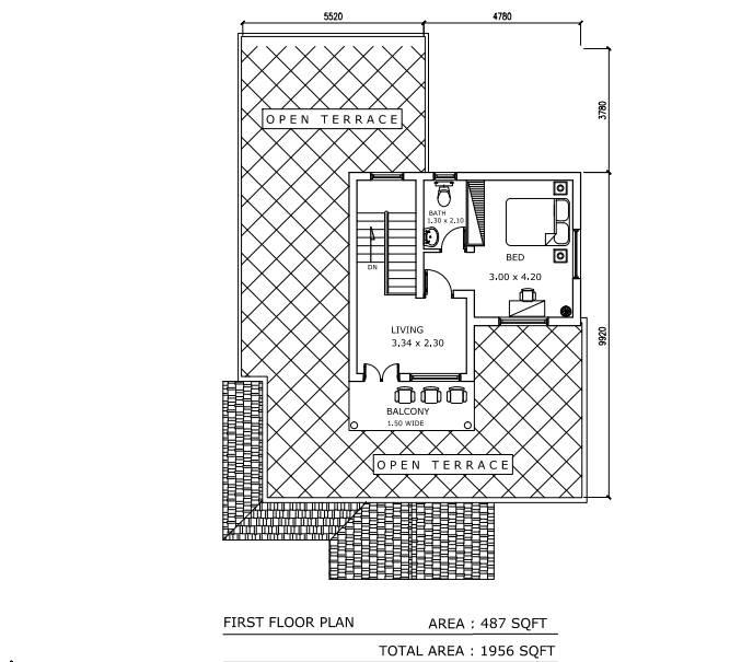 1956 Square Feet Double Floor Contemporary Home Design