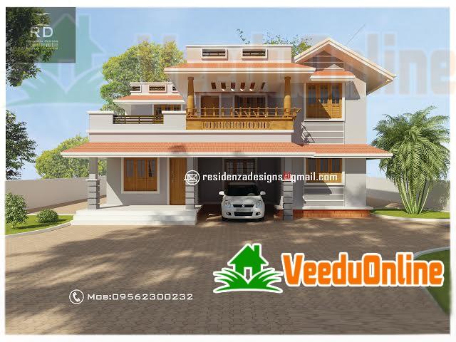 Kerala Traditional Exterior Home Design 1800 Sq Ft