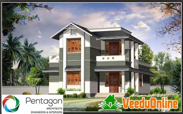 double floor home design home plan 1526 sq ft