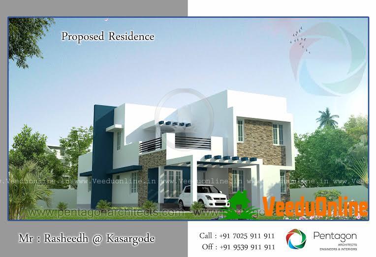 Double Floor Home Design 2459 square feet