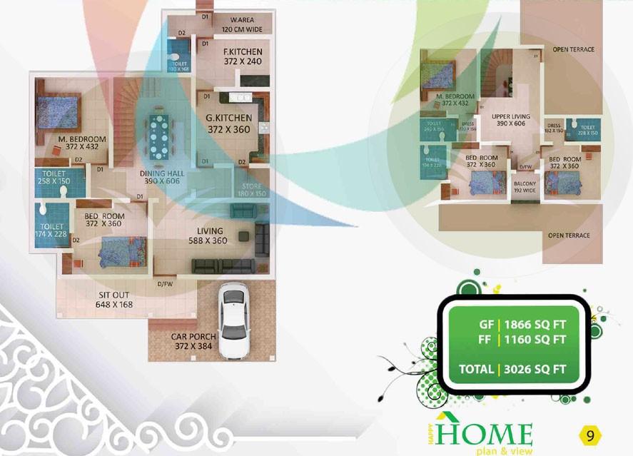 3026 Square Feet Amazing And Beautiful Kerala Home Designs Plan