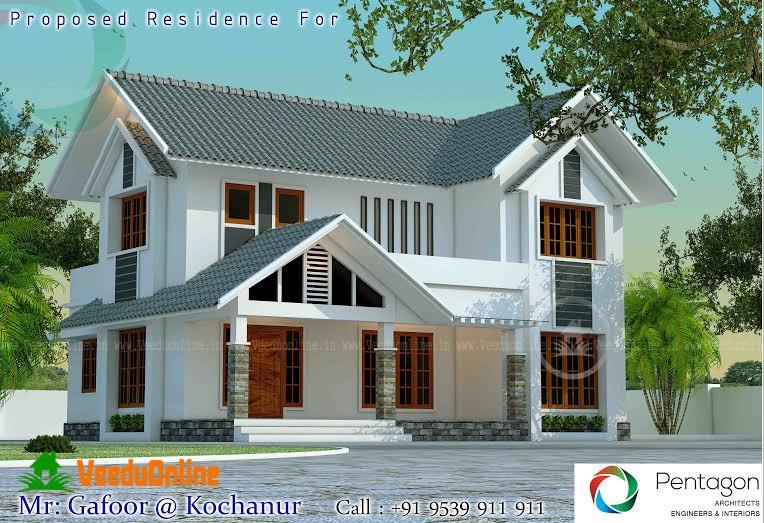 1800 Square Feet Double Floor Contemporary Home Design