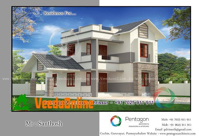 Super Double Floor Kerala House Design 1650 sq ft