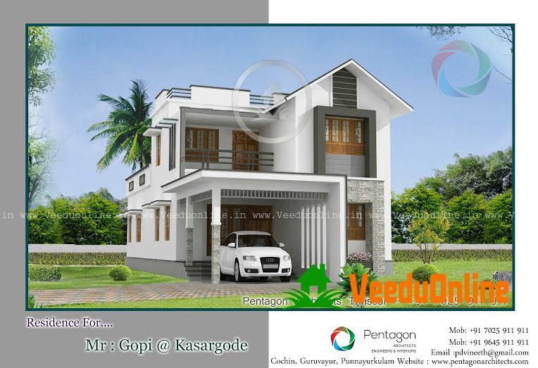 Beautiful Double Floor Kerala Home Plan2050 Sq Ft