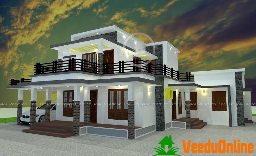 Beautiful kerala home design 2350 square feet for Kerala home designs 2015