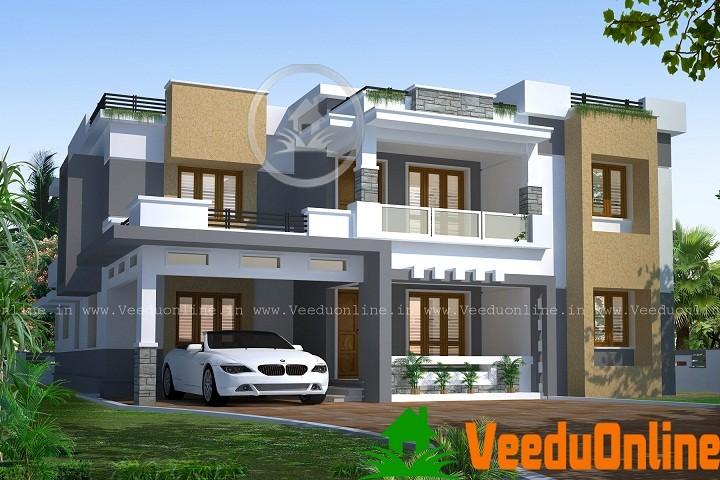 Modern Kerala Contemporary Home Design 2710 sq ft