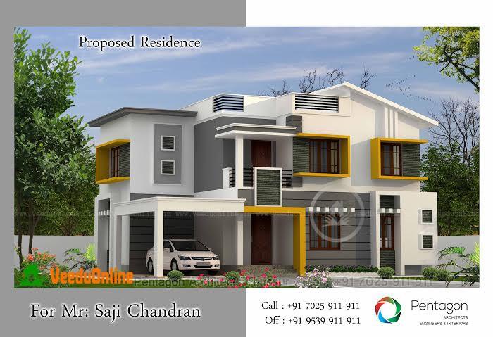 Double Floor Home Design 1850  Square feet