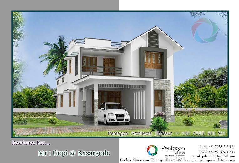 Beautiful double floor kerala home plan 2050 sq ft