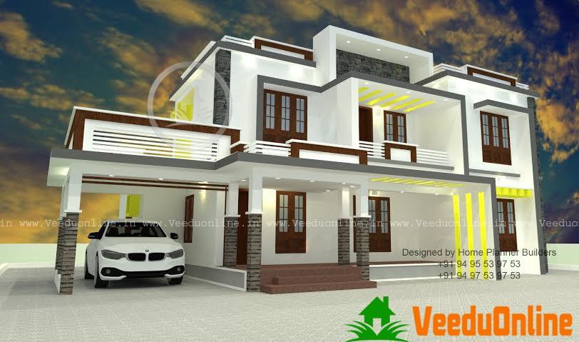 2305 Square Feet Double Floor Contemporary Home Design