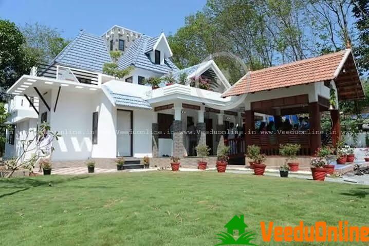 Stylish kerala house design 3800 square feet for Beautiful house photos in kerala
