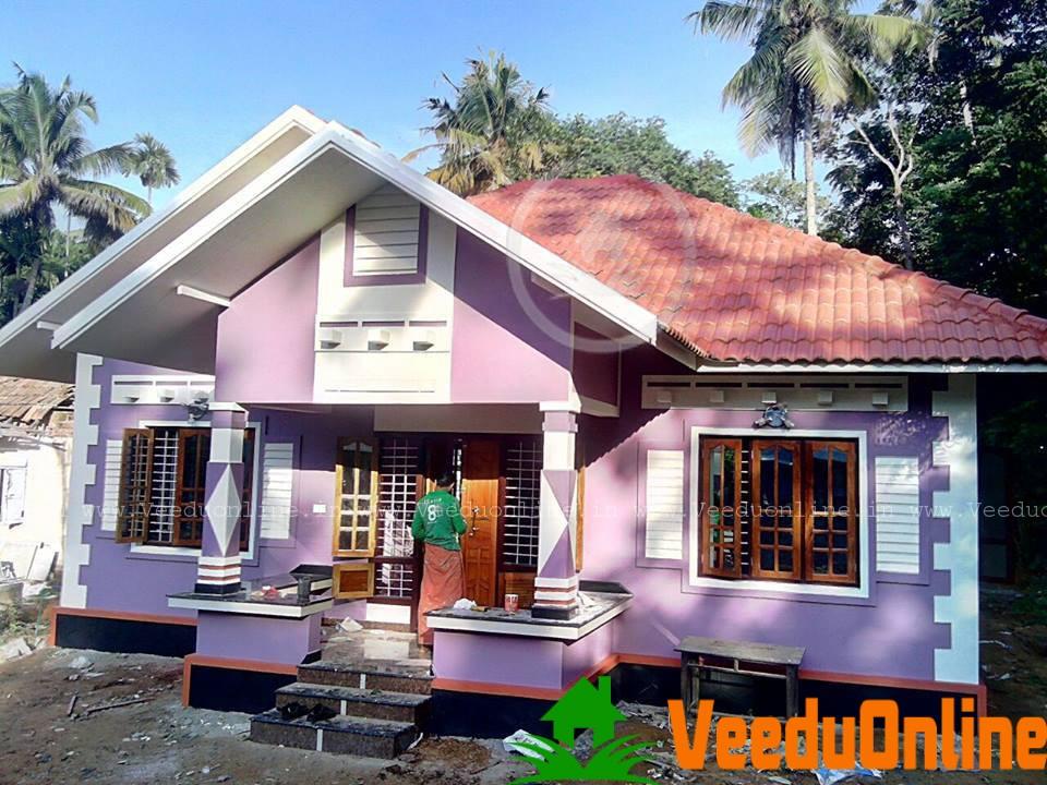 Kerala Beautiful Low cost Home 900 Sq Ft