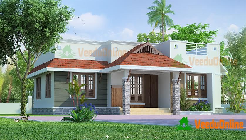868 Square Feet Single Floor Contemporary Home Design