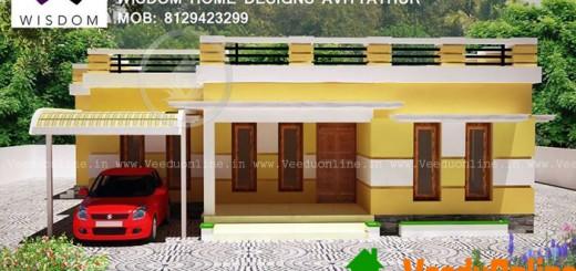 Beautiful single floor home design 1200 sq ft