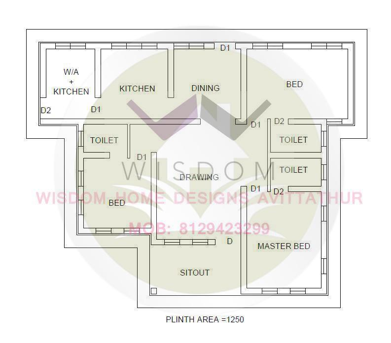 1200 Square Feet Amazing And Beautiful Kerala Home Plan Designs