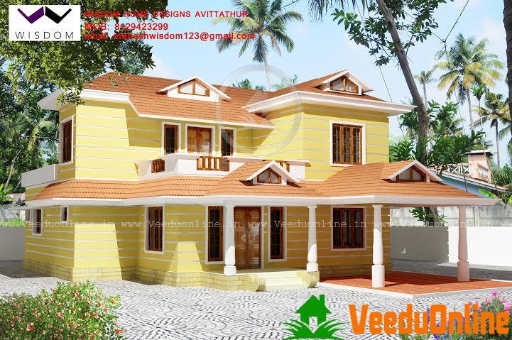 Double Floor Kerala Home Design 2271 sq ft