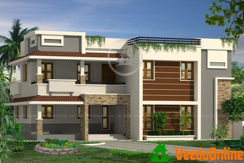 Kerala Home Design Double Floor Home Plan 2708 sq ft