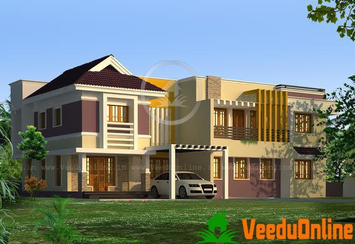 Kerala Double Floor Home Plan 3650 Sq Ft