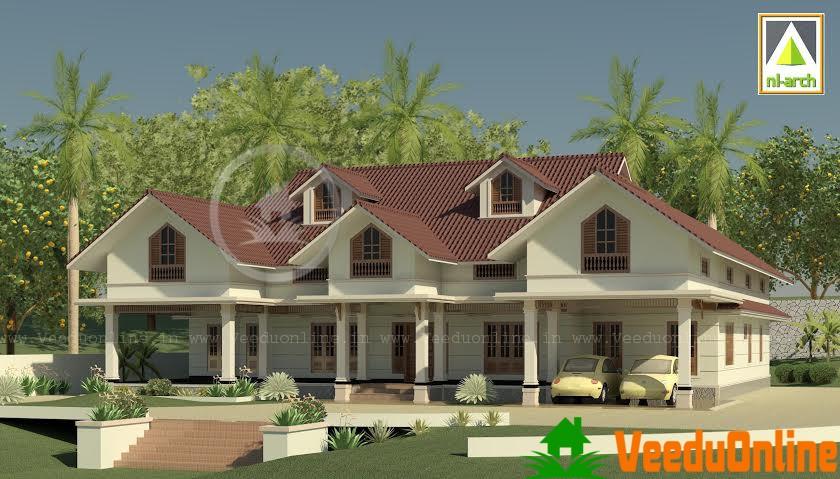 New Design Kerala-Georgian style Mix 3975 sq ft