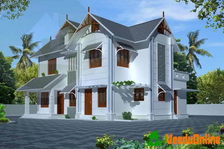 Double Floor Kerala Home Design 3 BHK