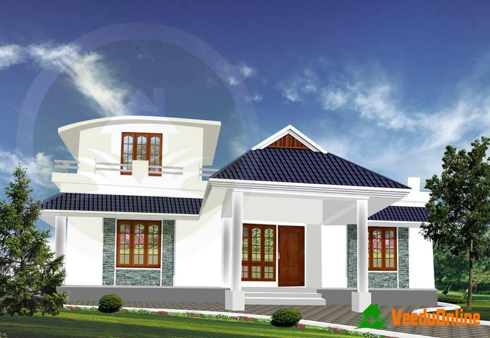 1300 Square Feet Single Floor Contemporary Home Design