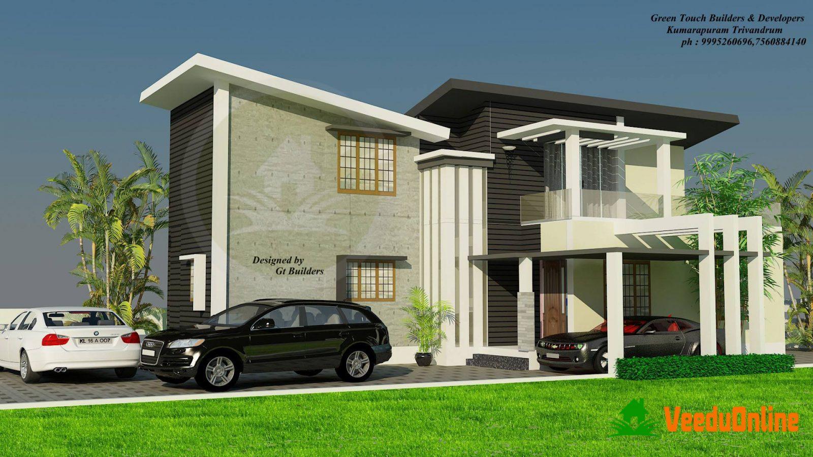 Double Floor Kerala Home Design 1840 Sq Ft