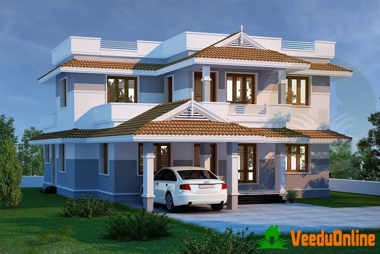 Nice Double Floor Kerala Home Design 2470 Sq Ft