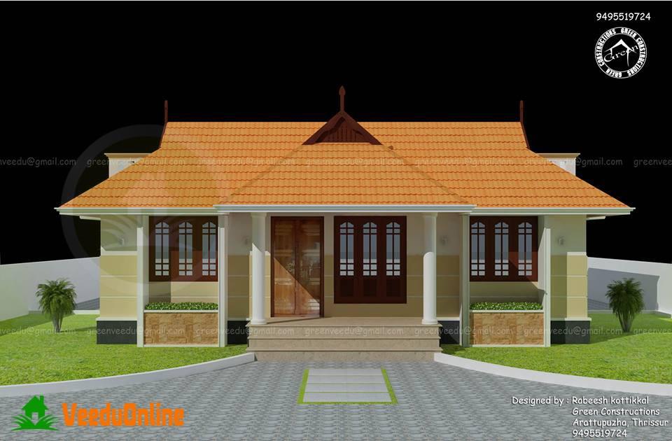 Single Floor Kerala Home Design 1100 Sq Ft
