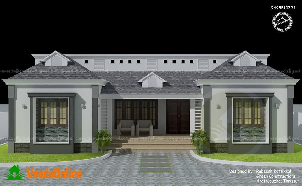 Single floor home designs kerala gurus floor for Home designs kerala plans