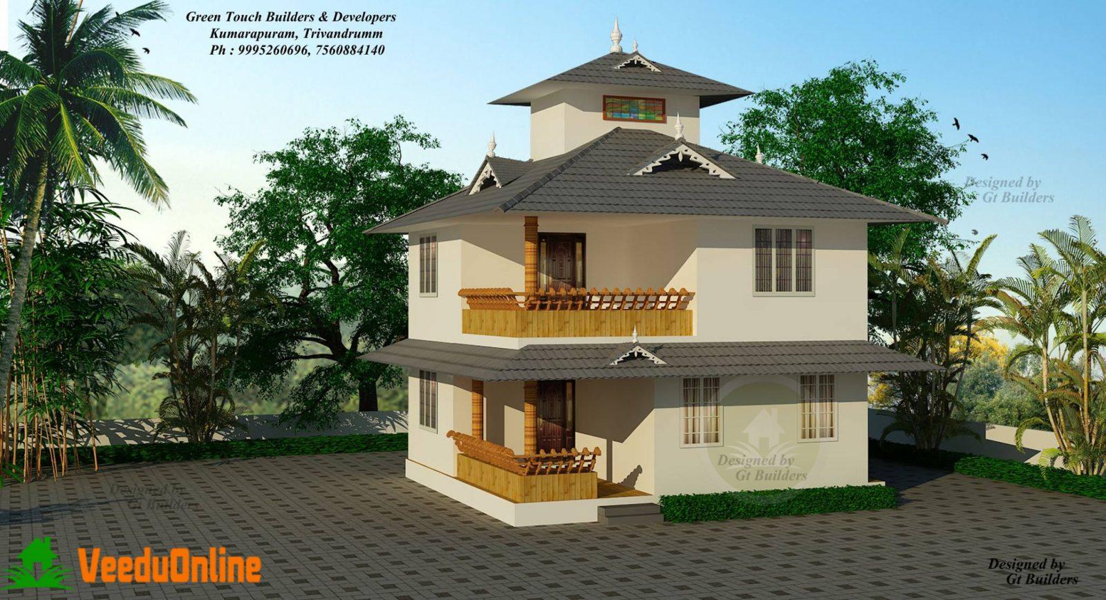 Double Floor Modern Home Design 2100 sq ft