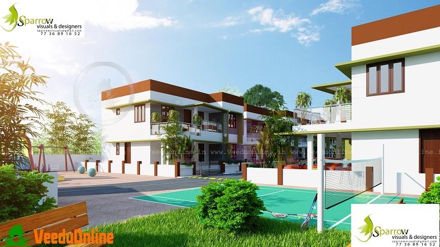 1750 Sq Ft Contemporary Villa Home Designs