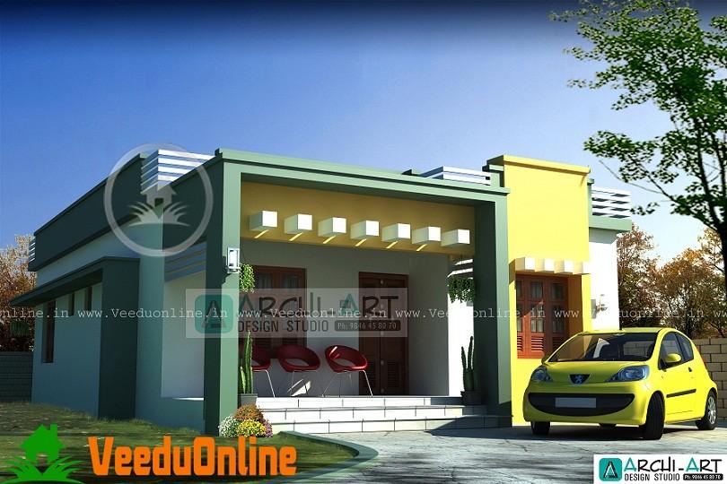 810 Sq Ft Single Storied Modern Home Design
