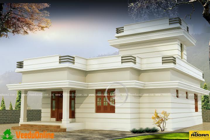 827 Square Feet Single Floor Contemporary Home Design