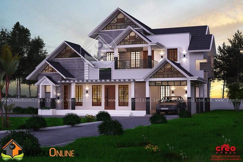 2710 Square Feet Double Floor Contemporary Home Design