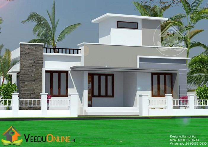 850 Square Feet Single Floor Contemporary Home Design