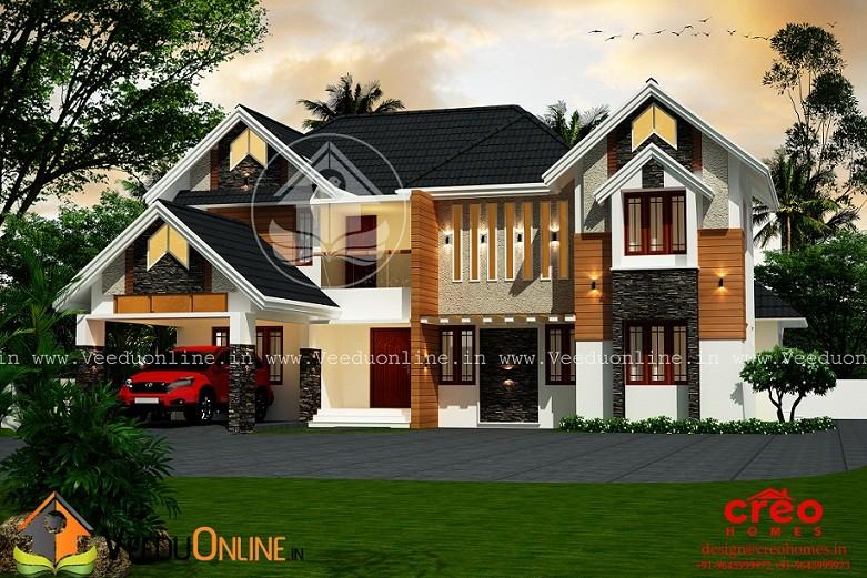2998 Square Feet Double Floor Contemporary Home Design