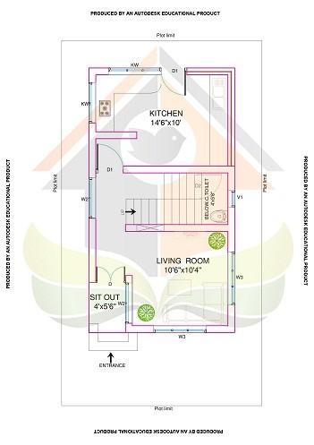 928 Square Feet Double Floor Contemporary Home Design