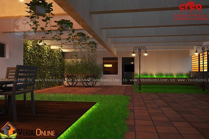 Fabulous Contemporary Home Open Terrace Courtyard Interior ... - photo#37