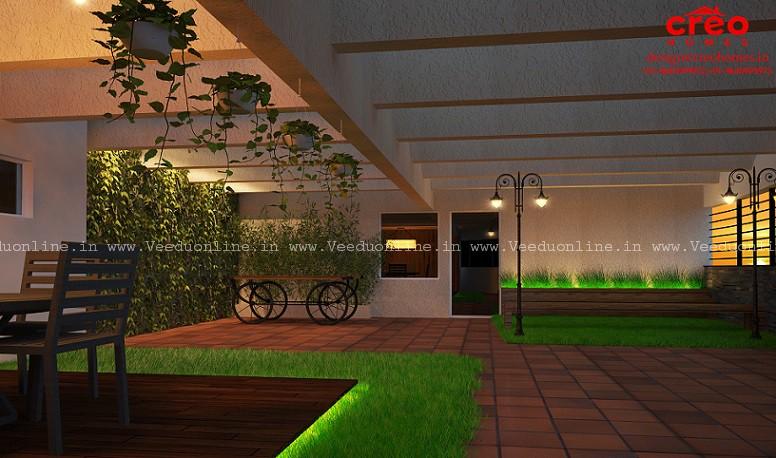 Fabulous Contemporary Home Open Terrace Courtyard Interior