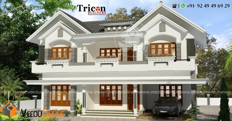 2585 Square Feet Double Floor Contemporary Home Design