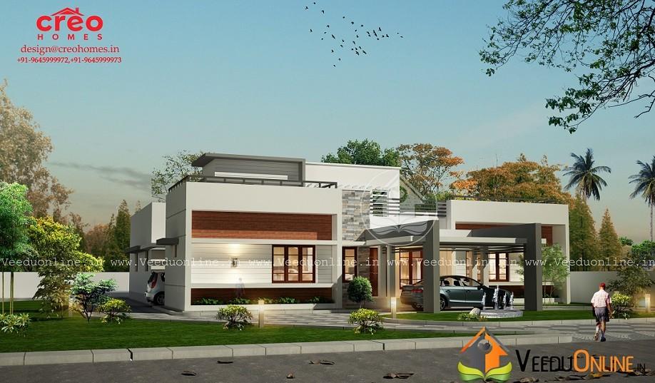 2863 Square Feet Single Floor Contemporary Home Design