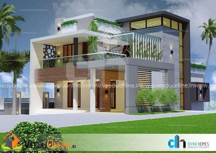 2900 Square Feet Triple Floor Contemporary Home Design