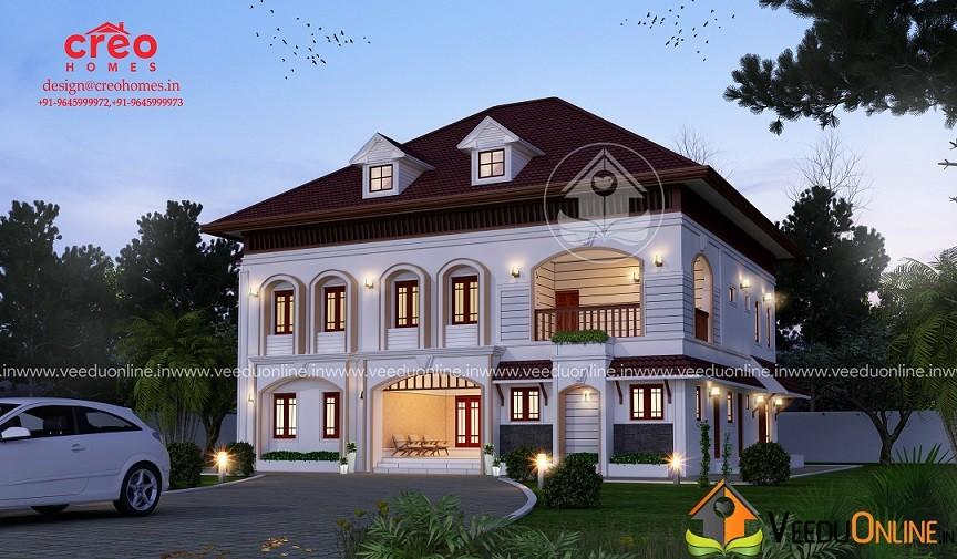 3870 Square Feet Double Floor Contemporary Home Design