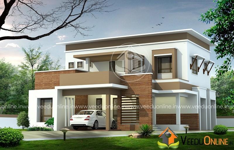 2050 Square Feet Double Floor Contemporary Home Design