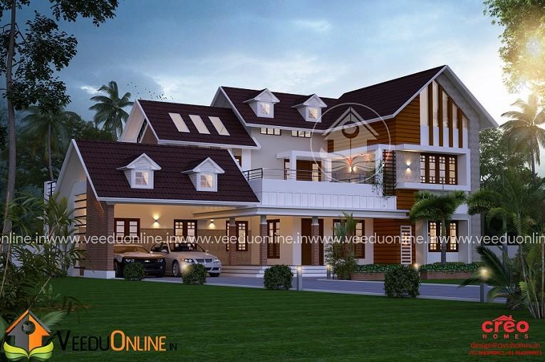 3565 Square Feet Double Floor Contemporary Home Design