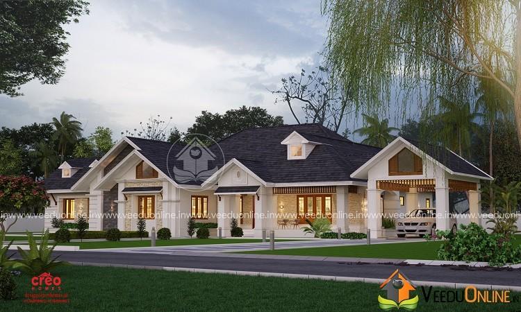 4230 Square Feet Single Floor Traditional Home Design