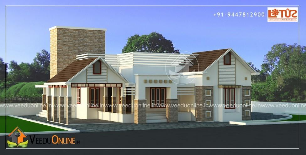 2200 square feet single floor contemporary home design for Amazing modern houses kerala