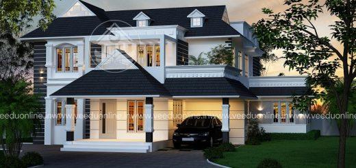 2620 square feet double floor contemporary home design - Home Design Kerala