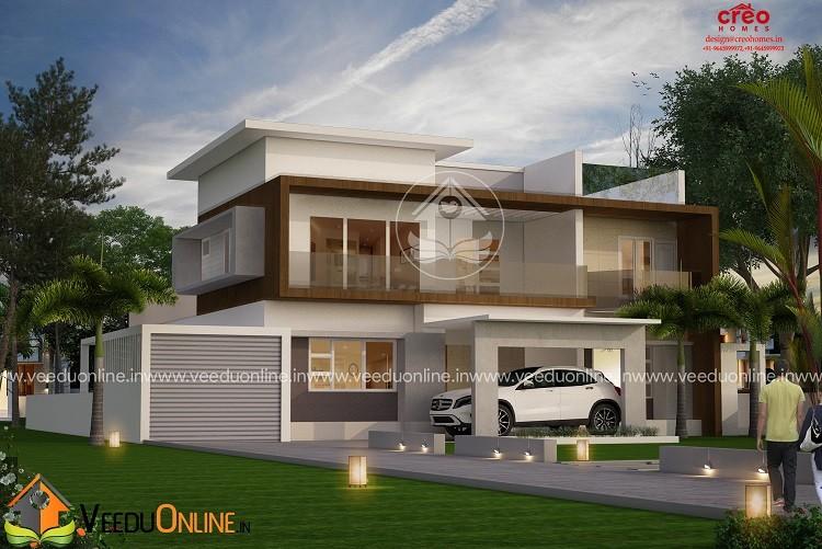 4265 Square Feet Double Floor Contemporary Home Design